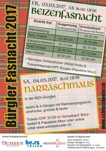 Flyer Bürgler Fasnacht 2017